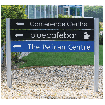 Post & Rail Sign with different colour rails