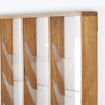 Natural Beech Wall Mounted  Leaflet Holder - Close Up