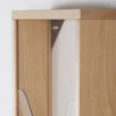 Natural Beech Wall Mounted  Leaflet Holder Fixings
