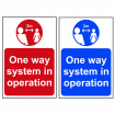 One Way System In Operation Signs - 2m