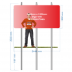 Post mounted sign 2440 x 1220 x 3500