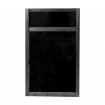 Wall Mounted Frame with Header Panel Chalkboard Insert