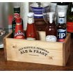 Rustic Condiment Box with Condiments in Situ