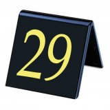 Styrene Table Numbers Black