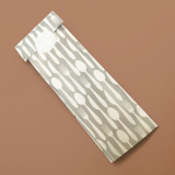 Disposable Cutlery Pouches - Grey & White Design