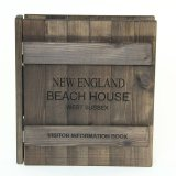 Wooden Canterbury Guest Information Folders