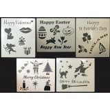 Re-Usable Chalkboard Stencils Holiday & Occasion Themes