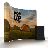 Curved Pop Up Exhibition Stand - Single Sided