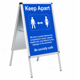 Social Distancing Outdoor Posters - A1
