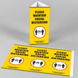 Social Distancing Table Talker Tent Cards
