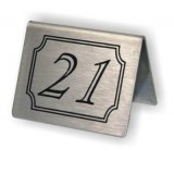 Stainless Steel Table Numbers