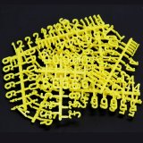 Peg Board Letters & Numbers - Yellow