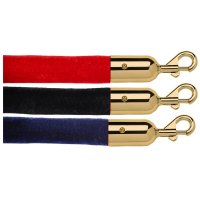 Velvet Barrier Ropes Gold Ends