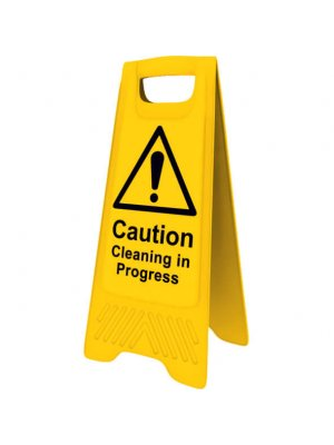 Yellow Cleaning in Progress Sign