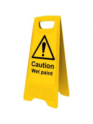 Yellow Caution Wet Paint A-board Sign