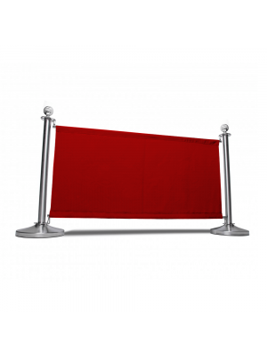 Red  Canvas Cafe Barrier System