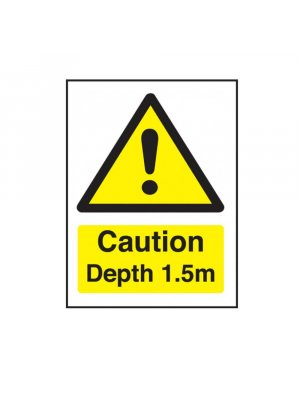 Caution Depth 1.5m Swimming Pool Safety Sign
