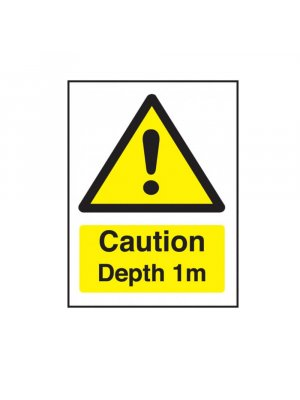Caution Depth 1m Swimming Pool Safety Sign