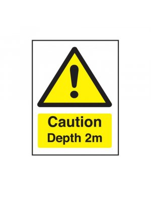 Caution Depth 2m Swimming Pool Safety Sign