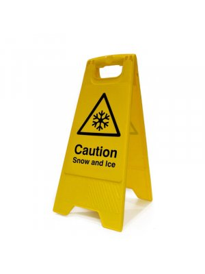 Caution Snow And Ice Portable Floor Stands