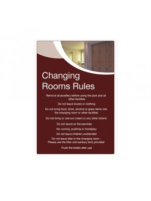 Changing Room Rules Sign
