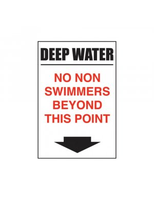 Deep Water - No Non Swimmers Beyond This Point
