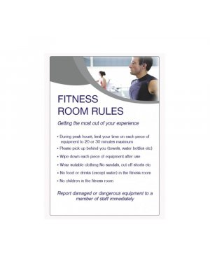 Fitness Room Rules Sign