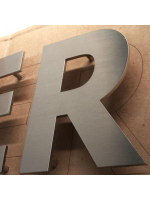 Flat Cut Stainless Steel Letters
