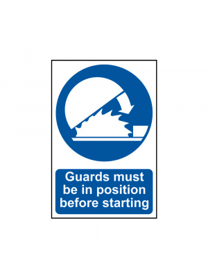 Guards Must Be In Position Before Starting Signs