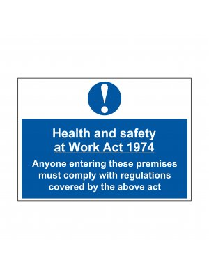 Health And Safety Act 1974 Signs