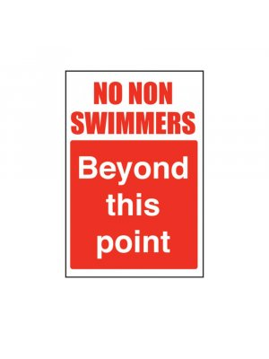 No Non Swimmers Beyond This Point Swimming Pool Safety Sign