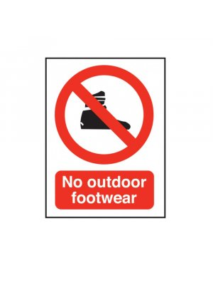 No Outdoor Footwear Swimming Pool Safety Sign