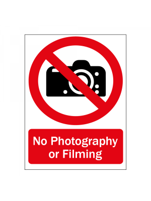No Photography or Filming Sign
