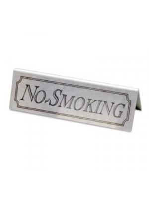 No Smoking Stainless Steel Signs