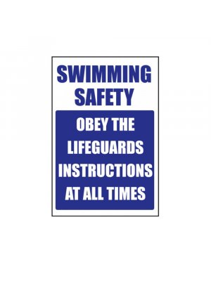 Obey The Lifeguards Instructions Safety Signs