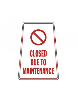 Closed Due To Maintenance Portable Stand
