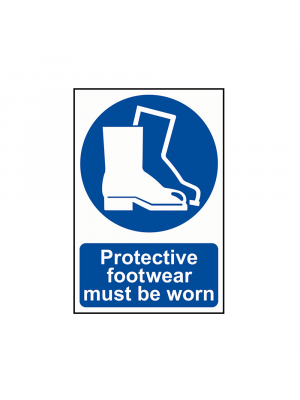 Protective Footwear Must Be Worn Signs