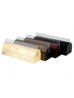 Small Wooden Menu Holders with PVC Gripper