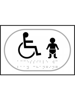 Disabled Toilet and Baby Changing Braille Sign