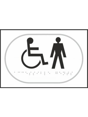 Disabled and Gentlemens Toilet Braille Sign