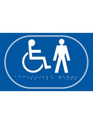 Disabled and Gentlemen Toilet Braille Sign