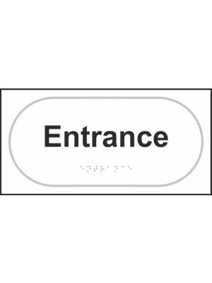 Entrance Braille Sign