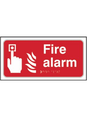Fire Alarm Braille Sign