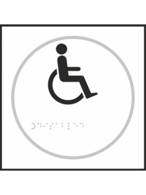 Disabled Toilet Braille Sign