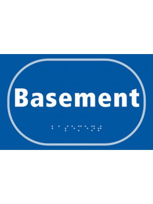 Basement Braille Sign