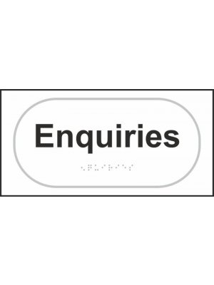 Enquiries Braille Sign