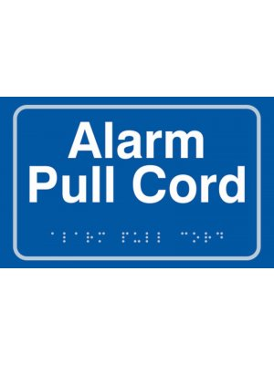 Alarm Pull Cord Braille Sign