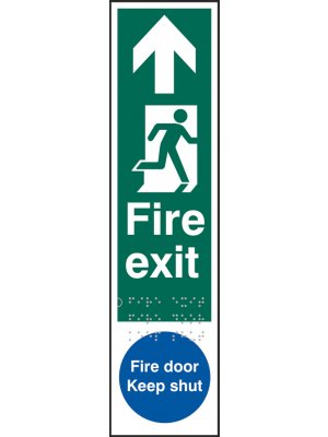 Fire Exit Braille Sign