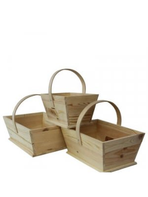 Wooden Display Trugs