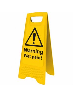 Yellow Warning Wet Paint Sign